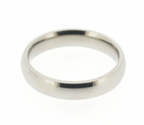 Stainless Steel Silver Tone Plain Band (3mm)