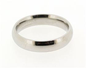 Stainless Steel Silver Tone Plain Band (4mm)