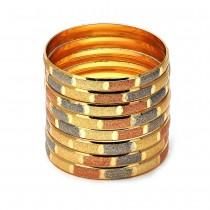 Gold Filled Dozen Bangles Tri Tone Size 3 - 2.00 Diameter