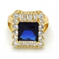 Gold Filled Multi Stone Ring With Cubic Zirconia Golden Tone