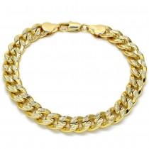 "Gold Filled 8"" Basic Bracelet Polished Finish Golden Tone"