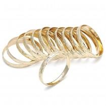 Gold Filled Dozen Bangles Golden Tone Size 2 - 1.75 Diameter