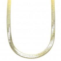 Gold Filled Basic Necklace Herringbone Design Golden Tone