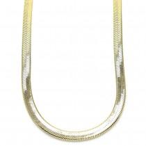 Gold Filled Herringbone Design Necklace Golden Tone