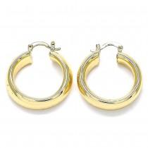 Gold Filled Medium Hoop Polished Finish Golden Tone 33.0 x 30.0 x 7.7 mm