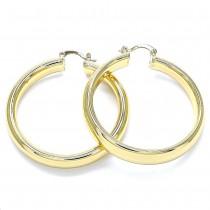 Gold Filled Large Hoop Polished Finish Golden Tone 55.0 x 50.0 x 8.0 mm
