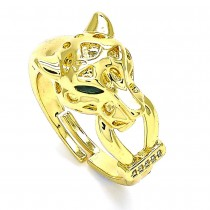 Gold Filled Panther Ring With Cubic Zirconia Polished Finish Golden Tone (One size fits all)