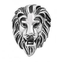 Stainless Steel Lion Head Men's ring