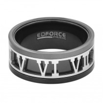 Stainless Steel Black Men's Ring