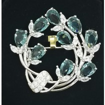925 Sterling Silver Brooch With CZ