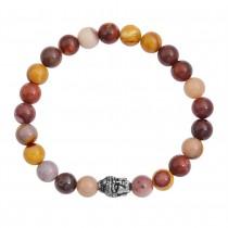 Stainless Steel Yolk Buddha Beaded Bracelet