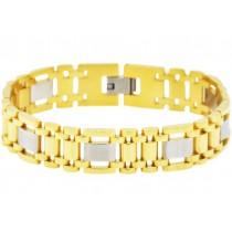 Stainless Steel Men's Gold Bracelet