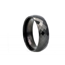 Men's Black Plated Tungsten Band Ring