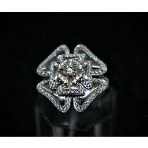 925 Sterling Silver Fashion Ring with Cubic Zirconia