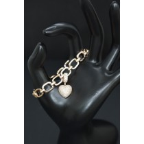 925 Sterling Silver Rose Gold Plated With White Cubic Zirconia Bracelet