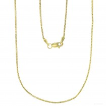 "14KT Gold 22"" Triple Spiga Wheat Chain Yellow Gold DC 019 Gauge 1.10MM"