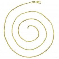 "14KT Gold 22"" Triple Spiga Wheat Chain Yellow Gold DC 025 Gauge 1.35mm"