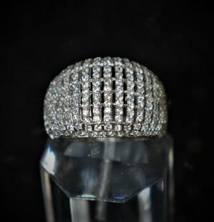 925 Sterling Silver Fashion Ring With White Cubic Zirconia